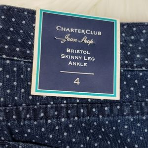 Charter Club Jeans - NWT Charter Club Skinny Ankle Dot Jeans